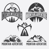 le vintage marque l'aventure de montagne Images libres de droits