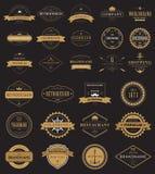 Le vintage marque le logo avec la couronne, ancre, flèche Image stock