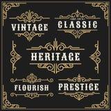 Le vintage s'épanouit le cadre de vigne et le decorati luxueux de calligraphie illustration de vecteur