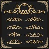 Le vintage s'épanouit le cadre de vigne et la calligraphie luxueuse illustration stock