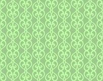 Le vintage vert a forgé lacer le modèle sans couture illustration libre de droits