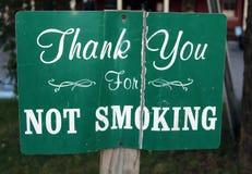 Le vintage vous remercient du tabagisme Image stock