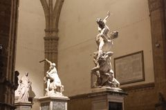 Le viol des sculptures en Sabine et en Hercule et en Nessus Photo libre de droits