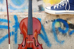 Le violon Photo libre de droits