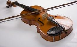 Le violon et c'est proue Photographie stock libre de droits