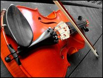 Le violon rouge Images libres de droits