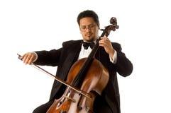 Le violoncelliste Images libres de droits