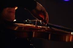 Le violoniste Images libres de droits