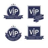 Le VIP différent badges l'ensemble de labels Photographie stock libre de droits