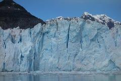 Le visage d'un glacier de vêlage Photos stock
