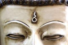 Le visage de Bouddha au Népal Photo libre de droits