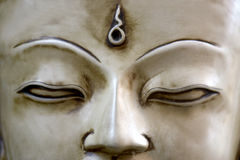 Le visage de Bouddha au Népal Photo stock