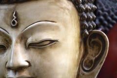 Le visage de Bouddha au Népal Photographie stock