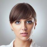Le visage de femme d'affaires Image libre de droits