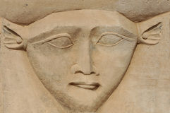 Le visage de Hathor Image libre de droits