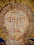 Le visage de Jesus Christ, une peinture médiévale Photographie stock