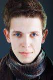 Le visage de jeune homme Photo stock