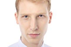 Le visage de jeune homme Images libres de droits