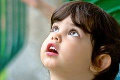 Le visage de l'enfant Image stock