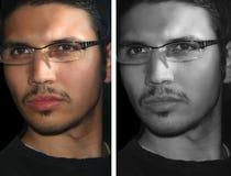 Le visage de l'homme Photos libres de droits