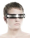 Le visage de l'homme bel de cyber Image stock