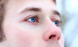 Le visage de l'homme en plan rapproché Photographie stock libre de droits