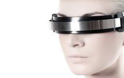 Le visage de la femme de Cyber Photo libre de droits