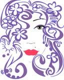 Le visage de la femme stylisée Photographie stock libre de droits