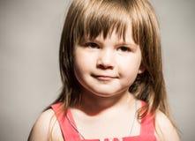 Le visage de petite fille Photo libre de droits