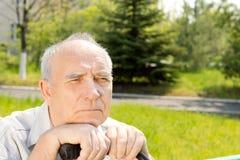 Le visage de vieil homme Photos stock