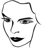 Le visage du femme Photographie stock libre de droits