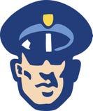 Le visage du garde de sécurité Illustration de Vecteur