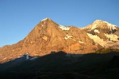 Le visage du nord de l'Eiger en Suisse image libre de droits