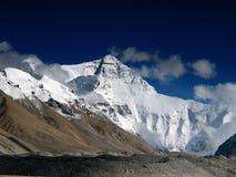 Le visage du nord de Mt. Everest images libres de droits