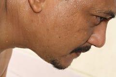 Le visage du sprinter Images libres de droits