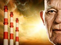 Le visage du vieil homme Photo libre de droits