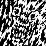 Le visage effrayant de l'illustration de vecteur de fantôme du ` s de démon illustration stock