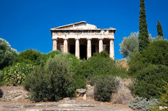 Le visage oriental le temple de Hephaestus. Athènes, Grèce. Image stock