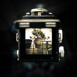Le viseur du vieil appareil-photo Photo libre de droits