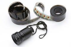 Le viseur et le film du directeur photos stock
