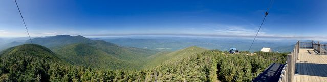 Le viste della cresta della montagna dalla montagna del cannone fotografie stock libere da diritti