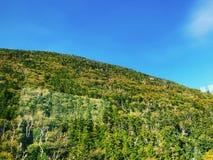 Le viste della cresta della montagna dalla montagna del cannone fotografia stock