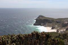 Le viste di oceano e del Capo di Buona Speranza Fotografia Stock Libera da Diritti