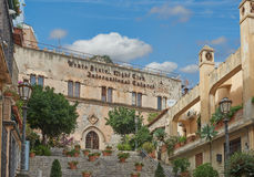 Le viste di Taormina, Sicilia Fotografia Stock