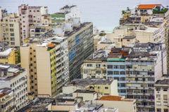 Le visuel de la traînée de la colline sont joao dans le copacabana photos stock