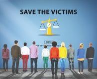 Le vittime di aiuto di slealtà di pregiudizio di parzialità influenzano il concetto Fotografia Stock Libera da Diritti