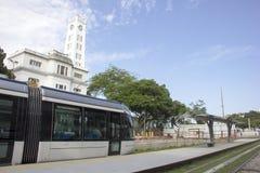 Le VLT de Rio sera prêt pour Rio 2016 Jeux Olympiques Photos stock