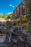 Le voile nuptiale tombe tellurure le Colorado Etats-Unis Image libre de droits