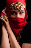 Le voile rouge photographie stock