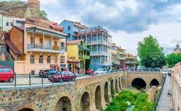 Le voisinage d'Abanotubani à Tbilisi Photographie stock libre de droits